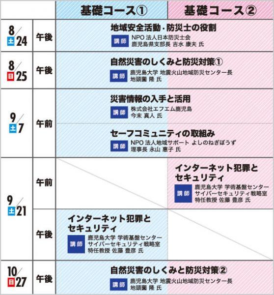 8月24日から10月27日までのセミナー概要