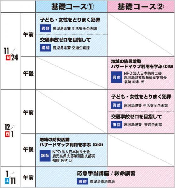11月24日から1月11日までのセミナー概要